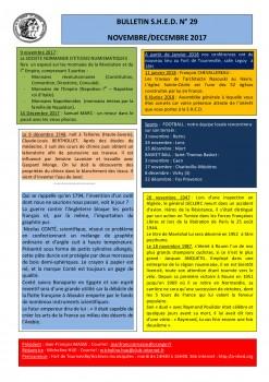 Bulletin S.H.E.D. N- 29 Nov.-Dec. 2017