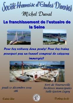 Affiche franchissement estuaire seine pour site SHEd